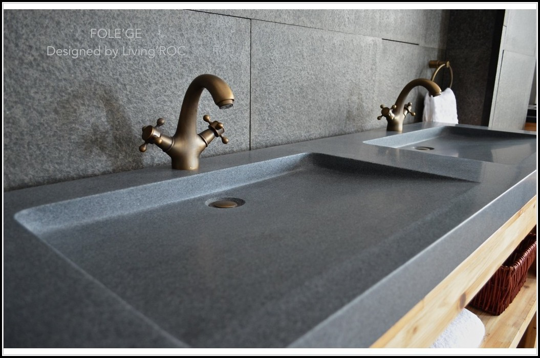 Stone Trough Sink Bathroom