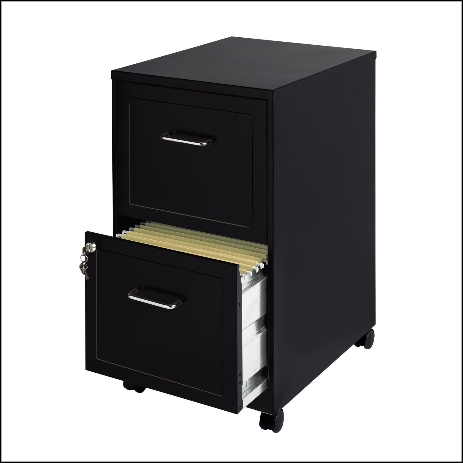 2 Drawer Wood File Cabinet With Lock