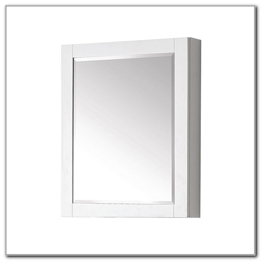 24 White Surface Mount Medicine Cabinet