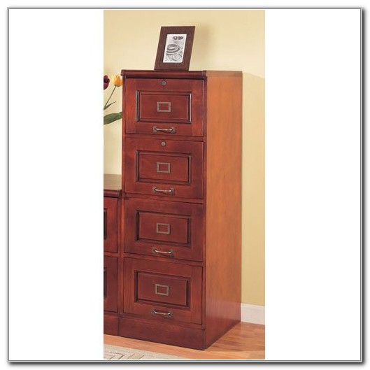 4 Drawer Vertical File Cabinet Cherry