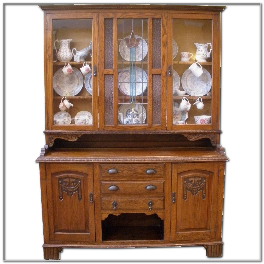 Antique China Cabinet With Hutch