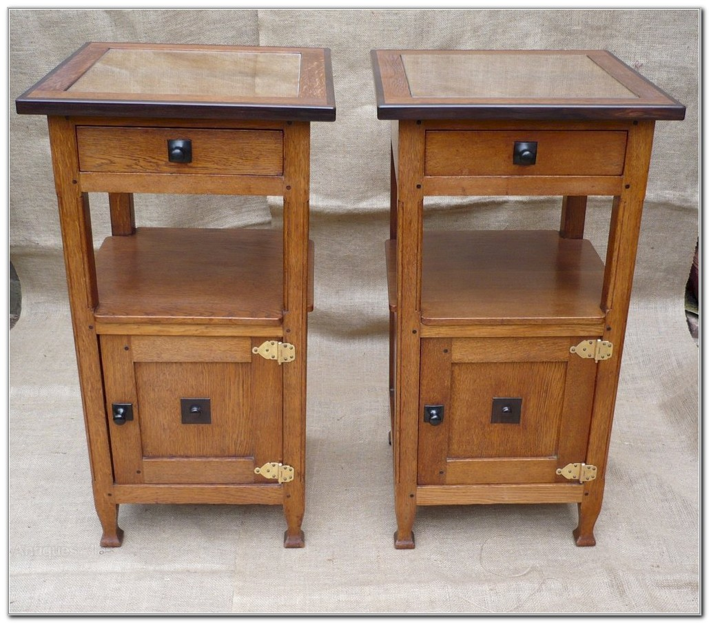 Arts And Crafts Bedside Cabinets