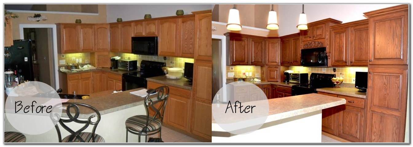 Cabinet Refacing Before And After Pics