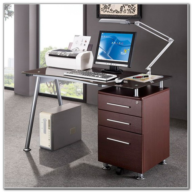 Computer Desk With Locking File Cabinet