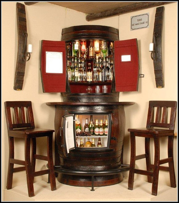 Corner Bar Cabinet With Fridge