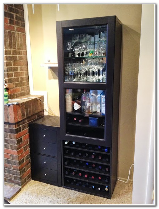 Corner Wine And Liquor Cabinet