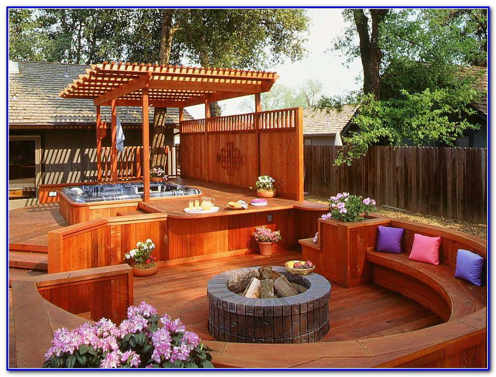 Decks With Hot Tubs