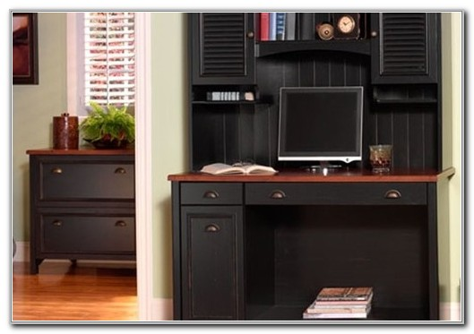 Desk With File Cabinet And Hutch