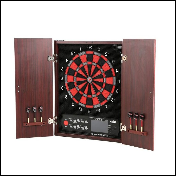 Electronic Dart Board Black Cabinet