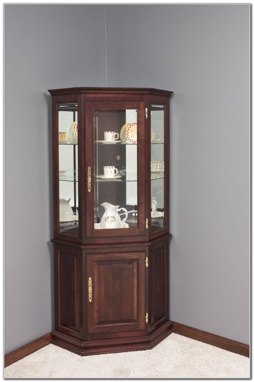 Furniture Corner Curio Cabinet