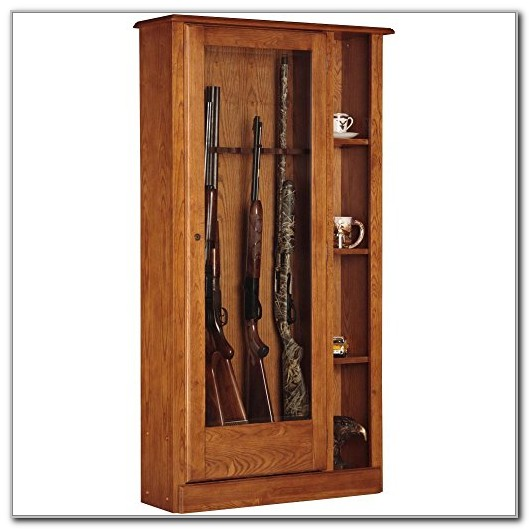 Gun Cabinet With Shelves