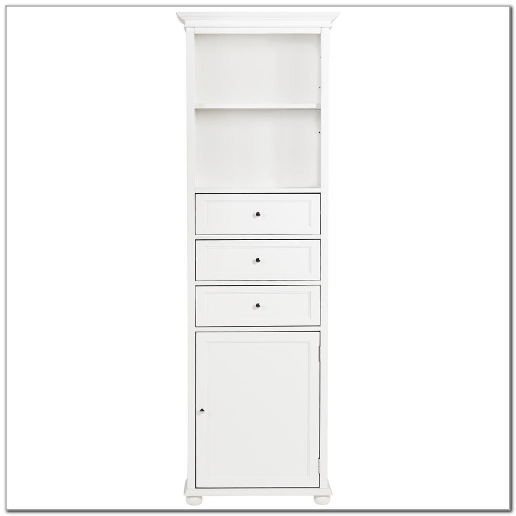 Hampton Bay 22 Linen Cabinet White