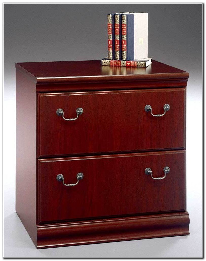 Harvest Cherry Lateral File Cabinet