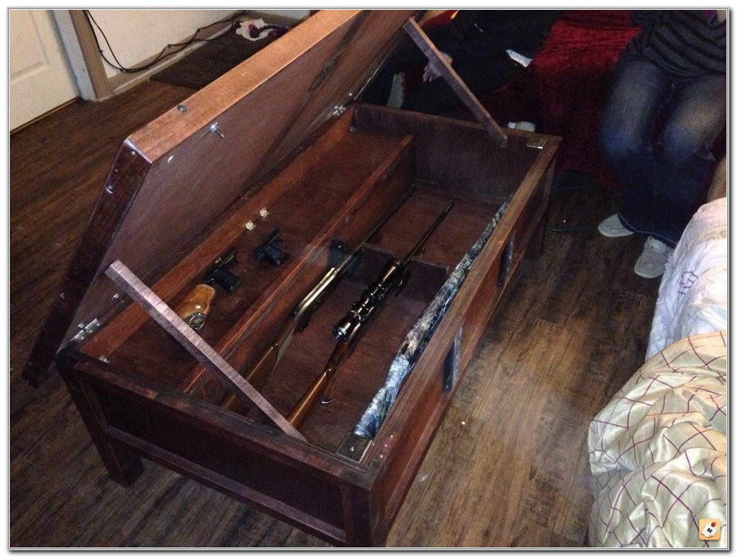 Hidden Gun Cabinet Coffee Table