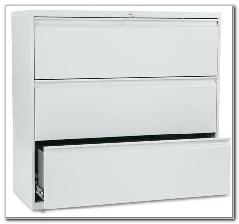 Hon 3 Drawer 42 Lateral File Cabinet