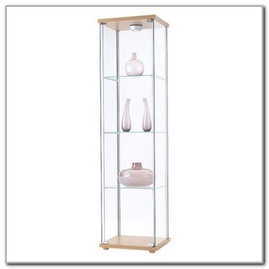 Ikea Detolf Glass Curio Display Cabinet