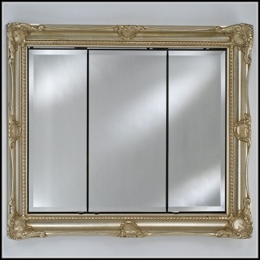 Large Recessed Mirrored Medicine Cabinet