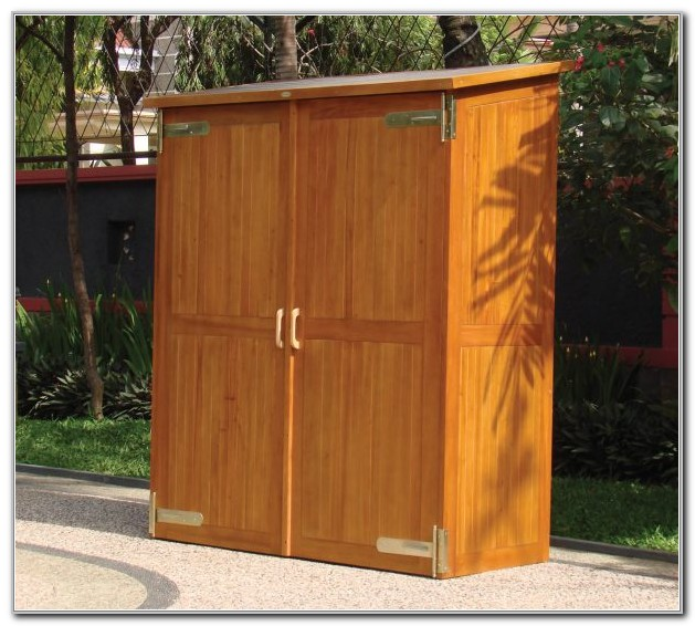 Outdoor Storage Cabinet Waterproof Wood