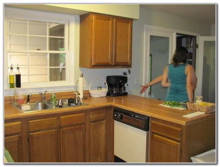 Painting Laminate Cabinets With Wood Trim