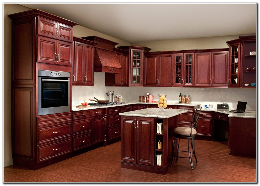 Red Cherry Kitchen Cabinets