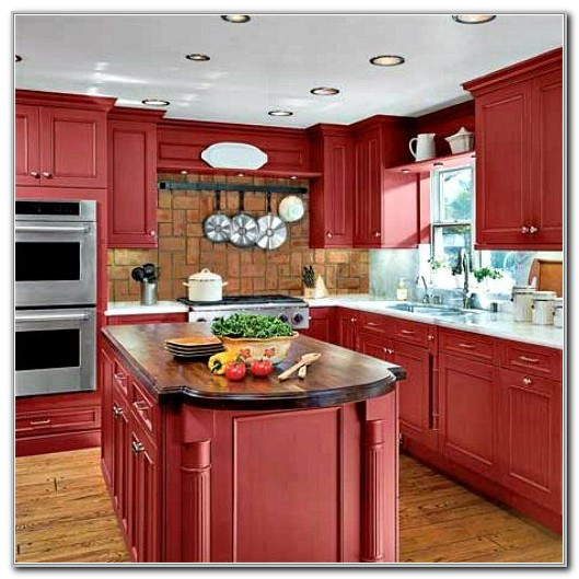 Red Kitchen Cabinets Ideas