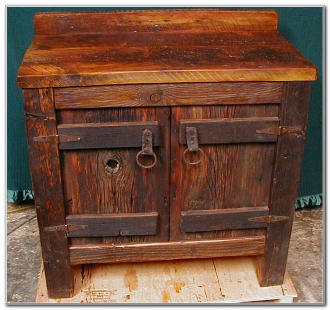 Rustic Vanity Cabinets For Bathrooms