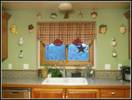 Sage Green Kitchen With Cherry Cabinets