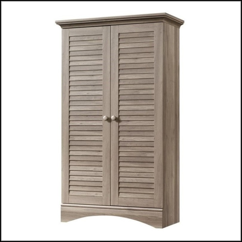 Sauder Harbor View Storage Cabinet Salt Oak