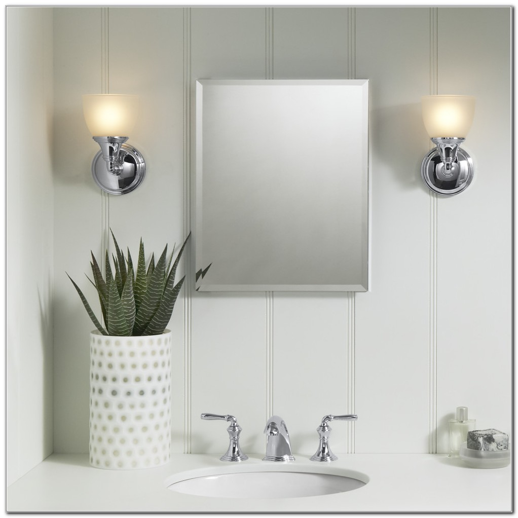 Small Lighted Mirror Medicine Cabinet