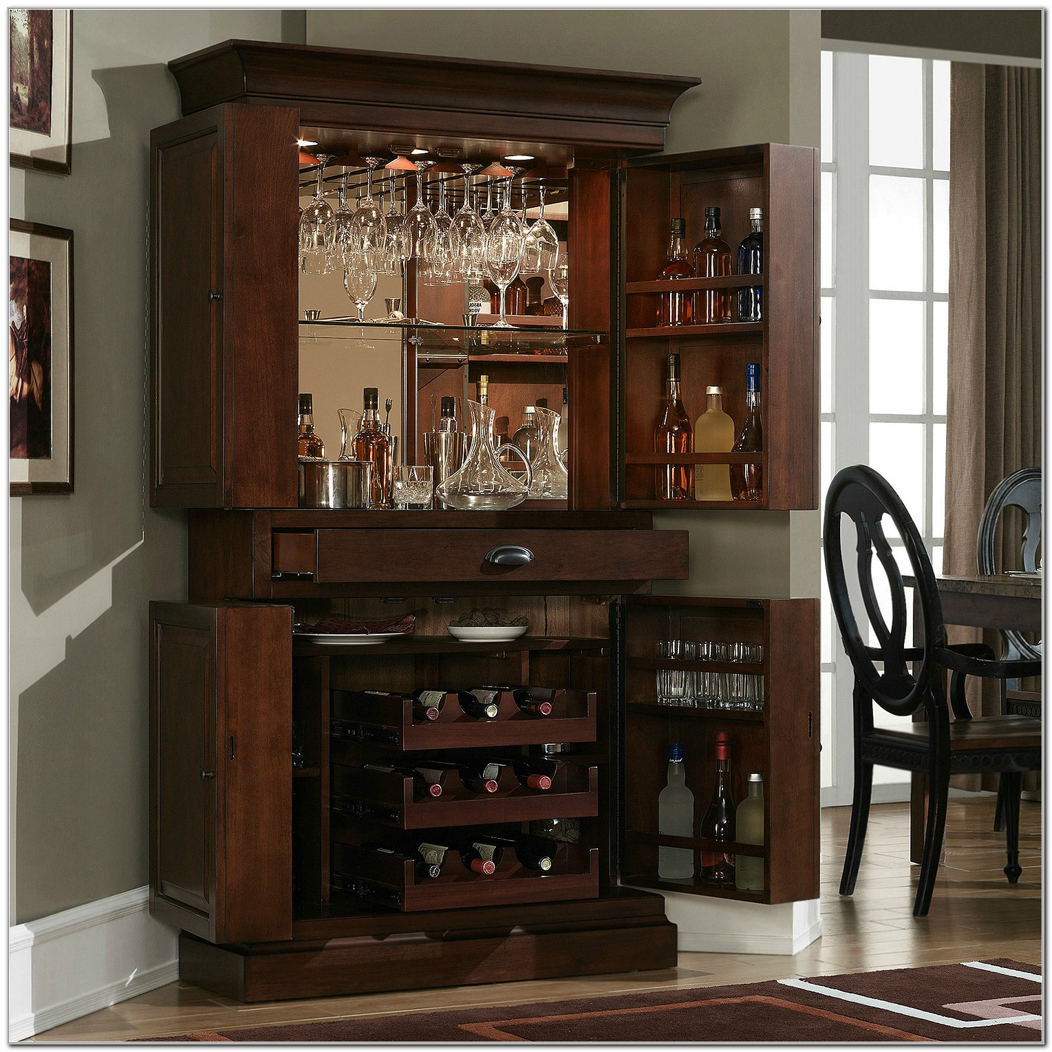Sonoma Hide A Bar Liquor Cabinet