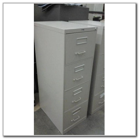 Staples 4 Drawer Locking File Cabinet