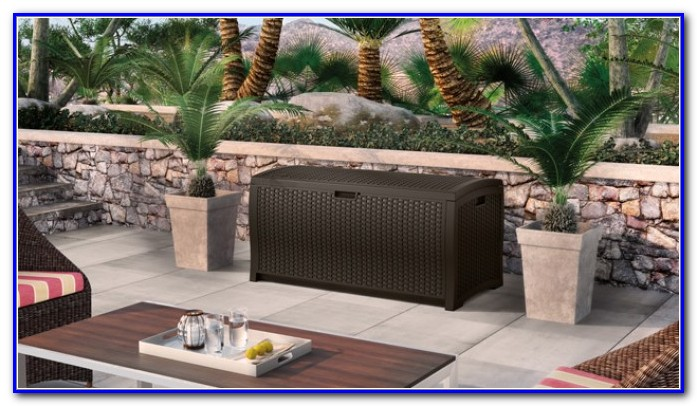 Suncast Resin Wicker Deck Box 99 Gallon