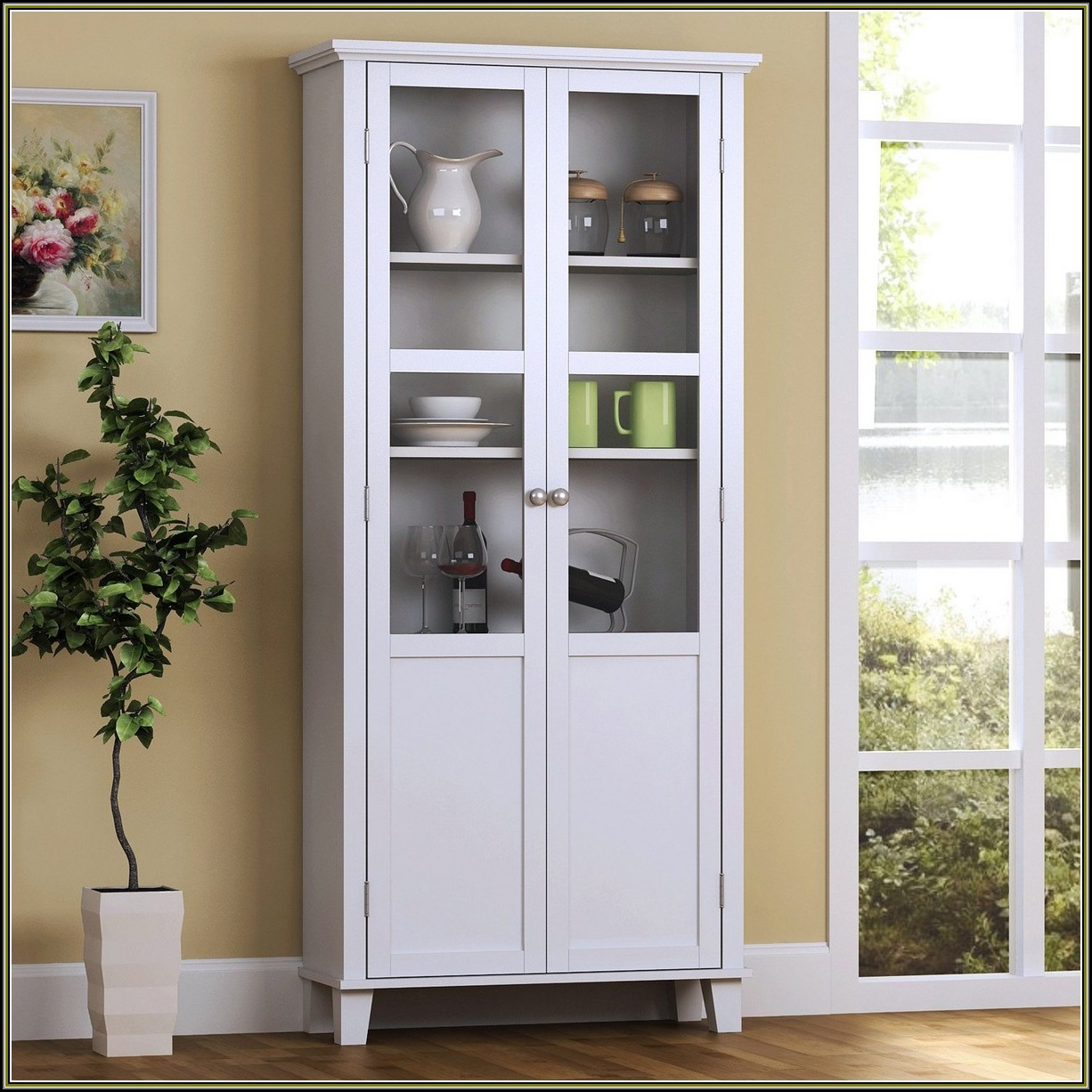 Tall Cabinets With Glass Doors