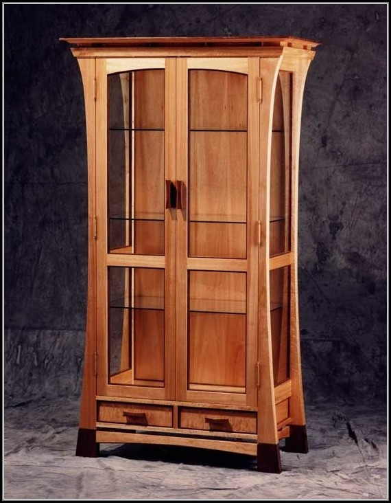 Tall Curio Cabinet With Glass Doors