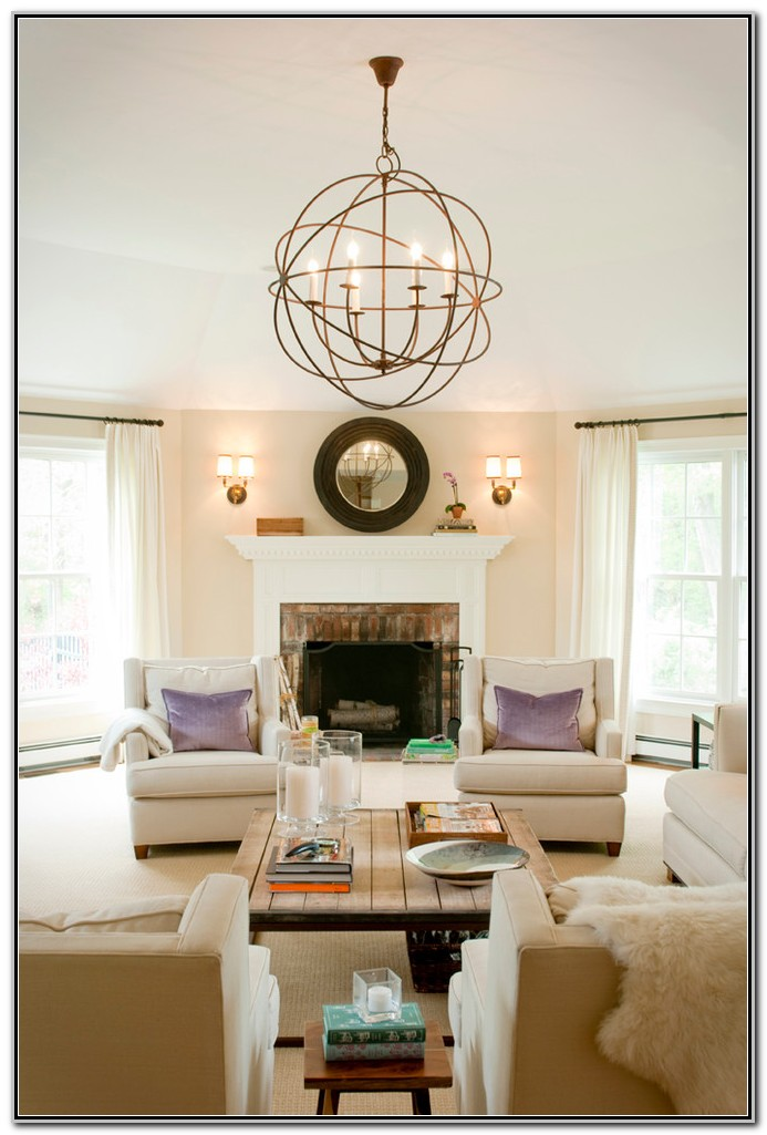 Transitional Living Room Sconces