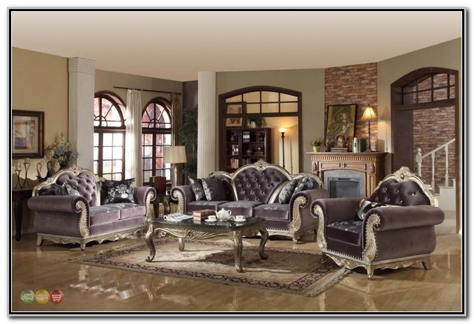 Tufted Living Room Furniture Set