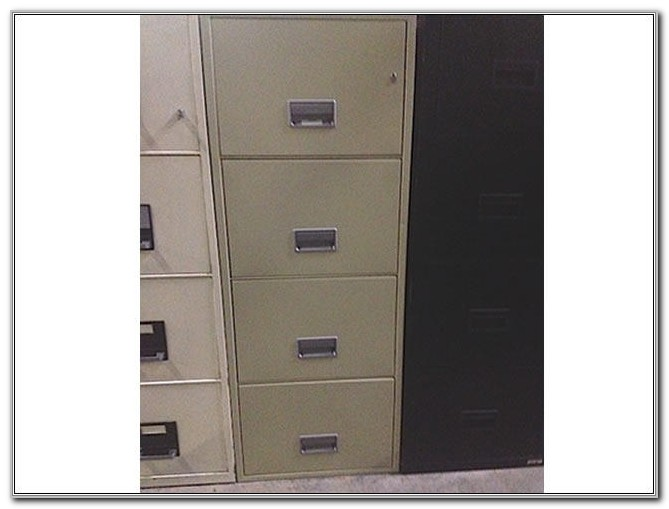 Used Fireproof 4 Drawer File Cabinets