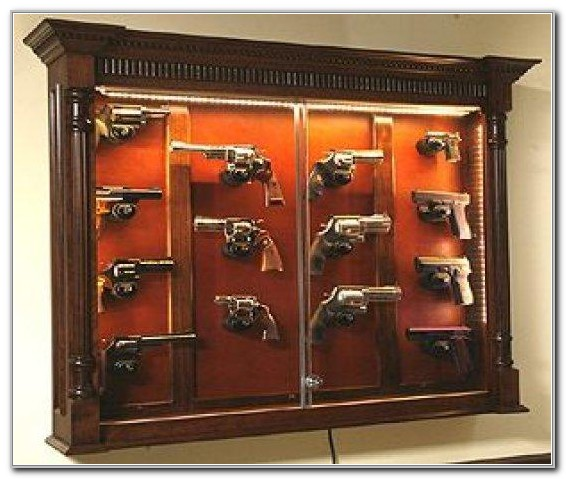 Wall Mount Wood Gun Cabinet