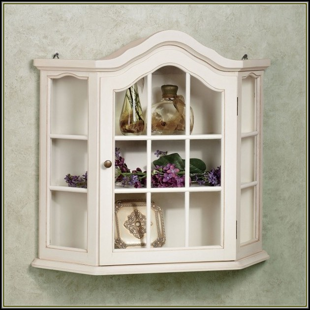Wall Mounted Curio Cabinet White