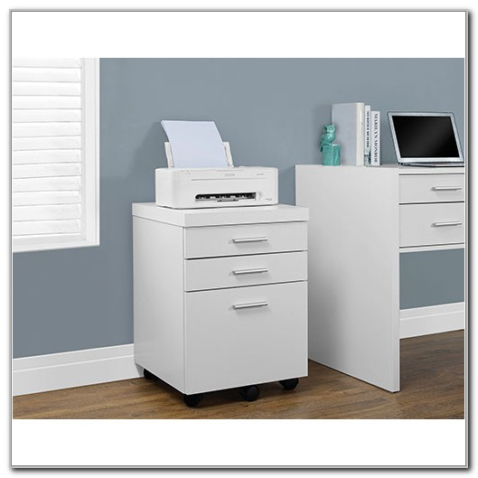 White 3 Drawer Vertical File Cabinet