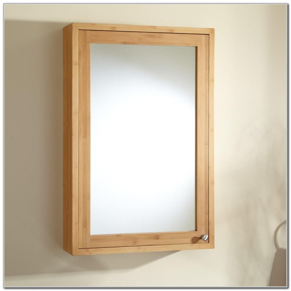 White Wood Framed Recessed Medicine Cabinet