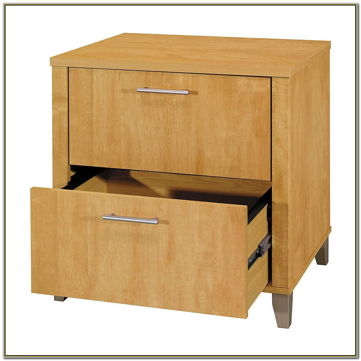 Wood 2 Drawer File Cabinet On Wheels
