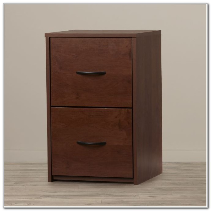 Wood Filing Cabinet 2 Drawer Lock