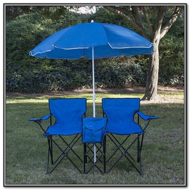 2 Chair Patio Set With Umbrella