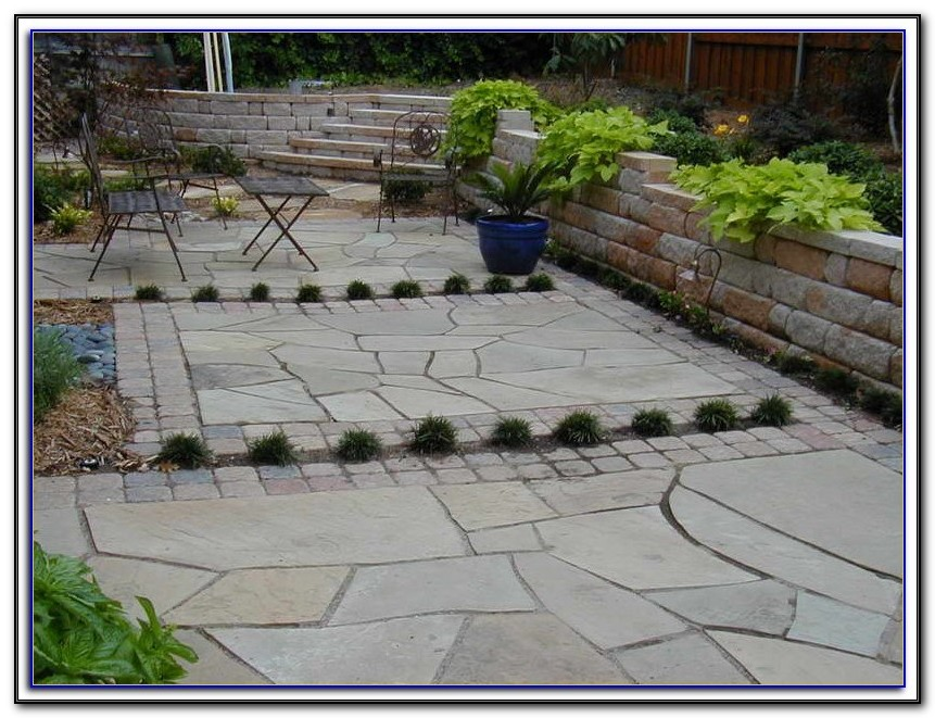 Build A Flagstone Patio On Uneven Ground