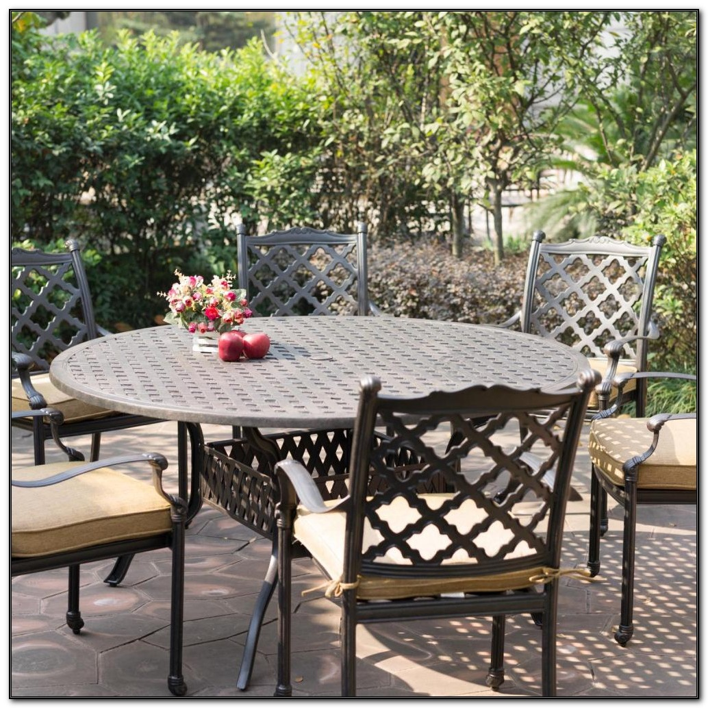 Cast Aluminum 7 Piece Patio Dining Set