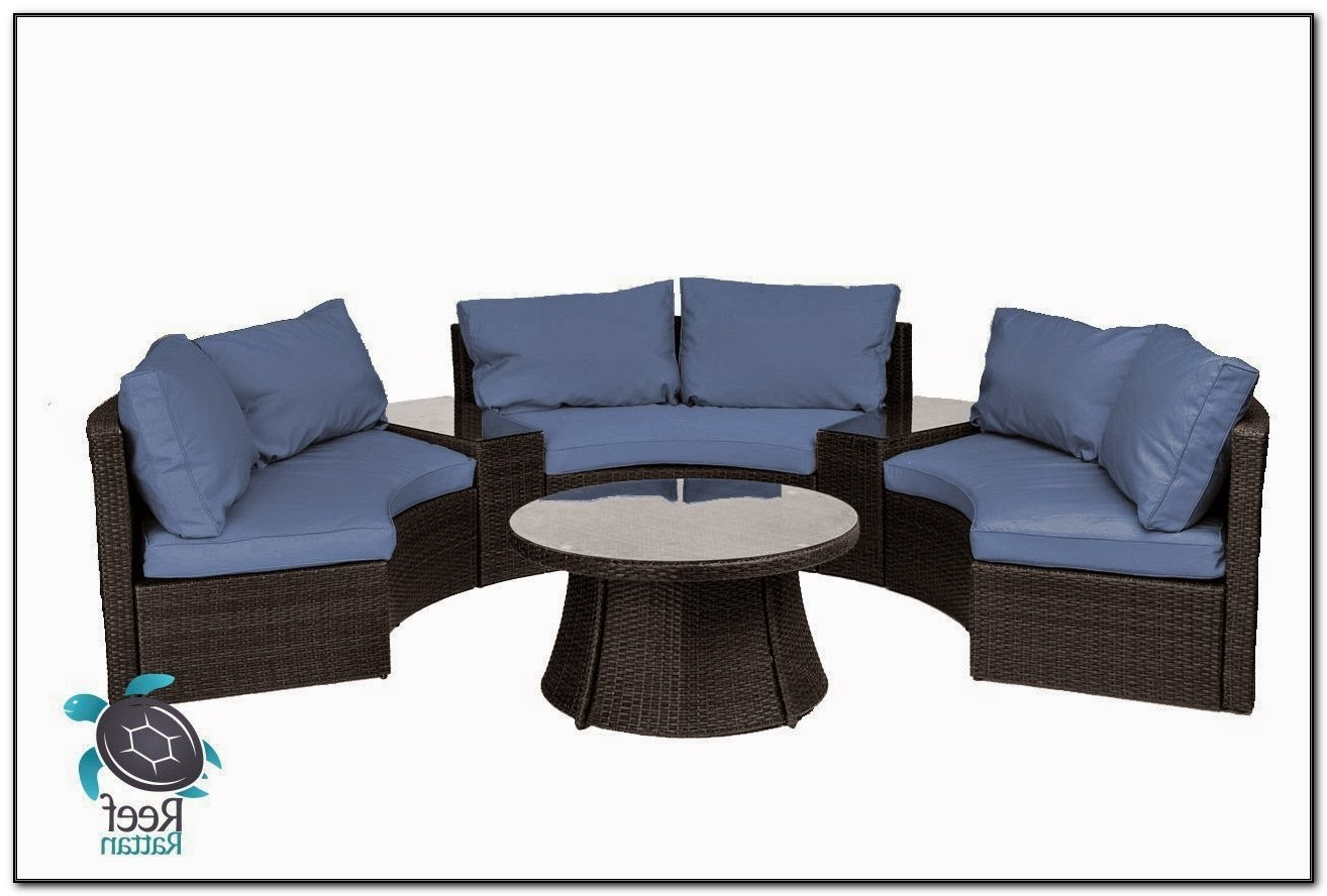 Curved Outdoor Sofa Set