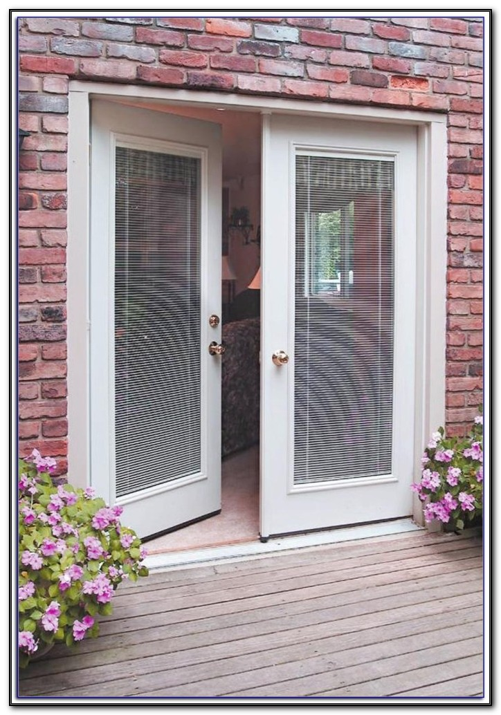 Fiberglass Patio Doors With Built In Blinds