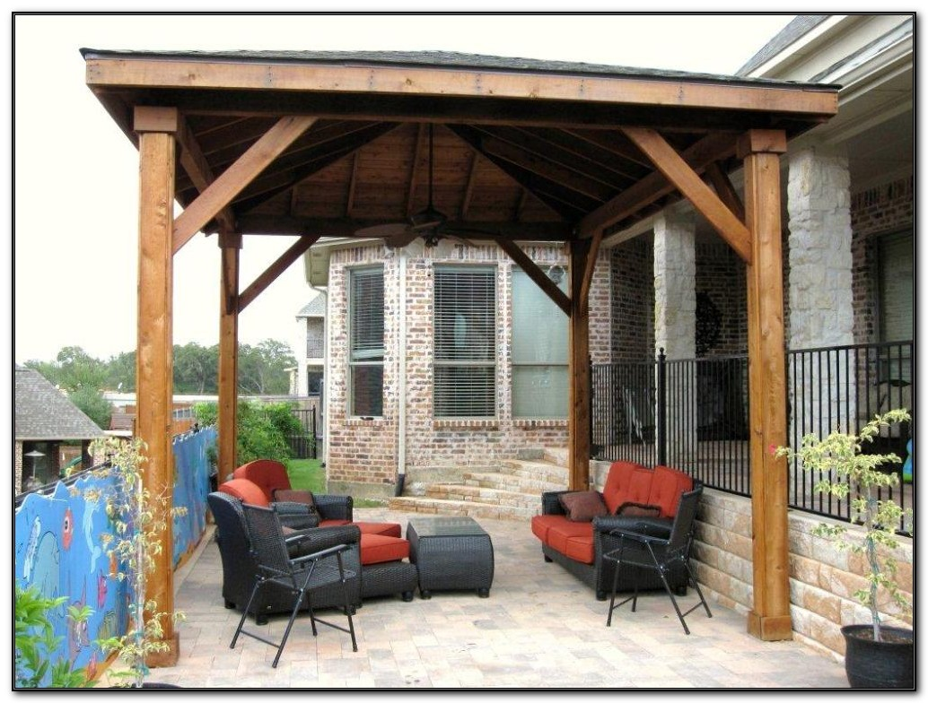 Free Standing Wood Patio Cover Kits