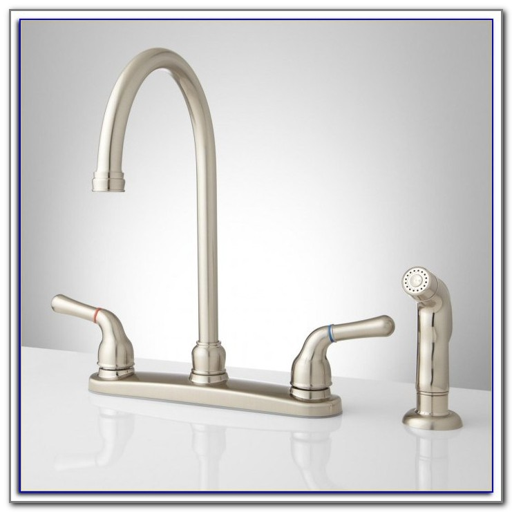 Kitchen Faucets With Sprayer And Soap Dispenser